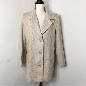 Vintage Herman Kay Wool Blend Tan Winter Coat